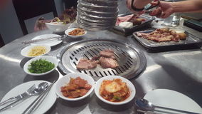 Korean BBQ Grilled. stock footage
