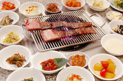 Korean BBQ Kalbi Royalty Free Stock Images
