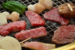 Korean beef barbecue called Yakiniku Royalty Free Stock Image