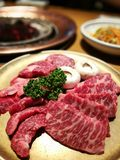 Korean beef at Seoul. Good food in korea Royalty Free Stock Images