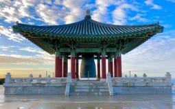 The Korean Bell of Friendship stock image