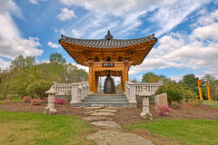 Korean Bell Garden. Landmark & scenery from Meadowlark Gardens in Vienna, Virginia (USA). HDR composite from multiple exposures stock photo