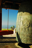 Korean Bell, San Pedro, CA. The Korean Peace Bell was given as a gift from the People of South Korea to the United States in honor of the Bicentennial in 1976 royalty free stock photos
