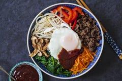 Korean bibimbap stock images