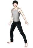 Korean Boy. In Soft Anime Style Stock Image
