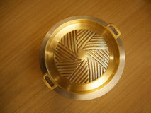 Korean brass pan royalty free stock photo