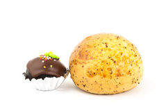 Korean bread and chocolate ball Royalty Free Stock Photo