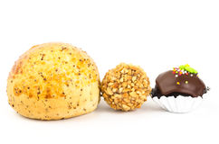 Korean bread and peanut chocolate ball Stock Images