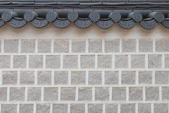 Korean brick wall Royalty Free Stock Images