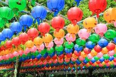 Korean Buddhism festival. Bunhwangsa Pagoda temple Stock Photos