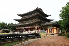 Korean Buddhism temple Royalty Free Stock Images