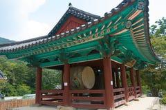 Korean Buddhist Temple. Buddhist temple in a Korean national park Stock Photos