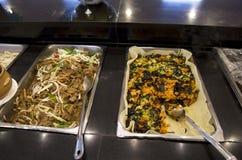 Korean buffet food restaurant royalty free stock photo