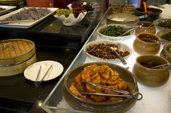 Korean buffet restaurant cuisines Royalty Free Stock Photo