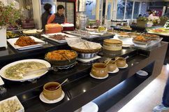 Korean buffet restaurant cuisines Royalty Free Stock Photos