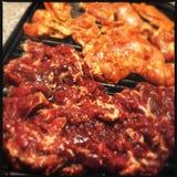 Korean bulgogi and chicken Royalty Free Stock Photos