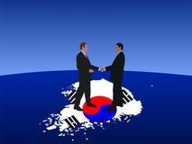 Korean business men meeting Stock Photos