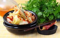 Korean cabbage kimchi Stock Photos