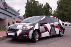 Korean car KIA Cerato at the auto show. KIA Cerato. Sankt Petrsburg, Automotive-show AutoPhoto Stock Photo