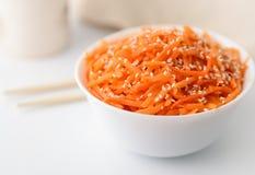 Korean carrot namul salad Royalty Free Stock Photography