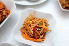 Korean carrot salad Stock Image