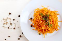 Korean carrot salad Stock Photos