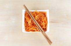 Korean carrot salad Royalty Free Stock Photos