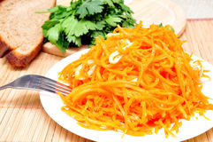 Korean carrots with squid Stock Images