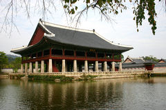 Korean Castle. Taken at Soul Korea. This is one of the castle in the heart of the city Stock Images