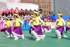 Korean celebration for Lighting lantern festival Stock Photos