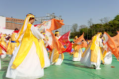 Korean celebration for Lighting lantern festival Royalty Free Stock Photos
