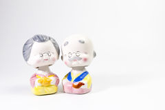 Korean ceramic dolls Royalty Free Stock Photo