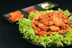 Korean chicken barbeque dish - Series 3 Royalty Free Stock Photo