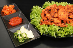 Korean chicken barbeque dish - Series 5 Royalty Free Stock Image