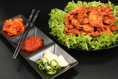 Korean chicken barbeque dish Stock Photography