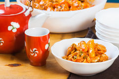 Korean chicken dakgalbi Royalty Free Stock Images