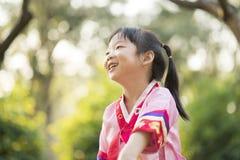 Korean child wearing a Traditional Hanbok Royalty Free Stock Image