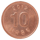 Korean Copper Coin Royalty Free Stock Photos