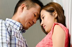 Korean couple Royalty Free Stock Photo