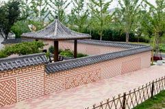 Korean courtyard Stock Images