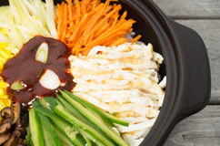 Korean cuisine, Bibimbap Royalty Free Stock Photo