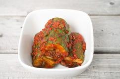 Korean cuisine, cucumber kim chi Stock Photo