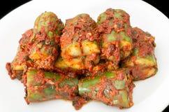 Korean cuisine, cucumber kimchi stock images