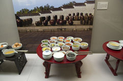 Korean cuisines models National Palace Museum of K Royalty Free Stock Photo