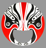 Korean cultural mask. Korean cultural red face mask stock photography