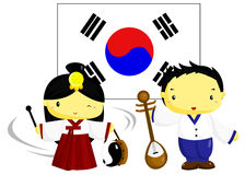 Korea Culture and Flag Royalty Free Stock Images