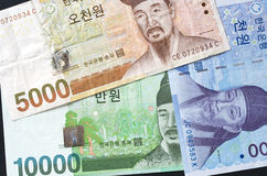 Korean currency. Some kind of korean currency Stock Images