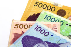 Korean Currency. Stock Images
