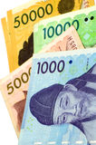 Korean Currency. Stock Image