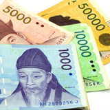 Korean Currency. Stock Photos
